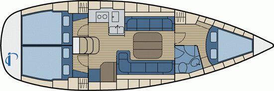 Bavaria 37 Cruiser interieur